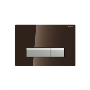 Geberit Sigma40 Black Glass Odour Extracting Dual Flush Plate - 115.600.SJ.1